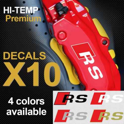 Audi RS TT RS3 RS4 RS5 RS6 Quattro Premium brake caliper decals stickers