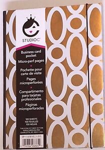Staples Gold Studio C Lined Notebook Business Card Pocket