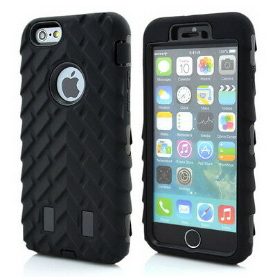 For Apple iPhone 6 Plus 5.5/4.7 Rugged Protective Hybrid Hard Rubber Case Cover