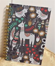 OCS Bohemian Wildlife Lama Southwestern Hard Back Spiral JOURNAL Notebook