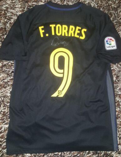 Fußball-Artikel Fernando Torres Signed shirt Atletico de Madrid Griezmann No match worn proof Fußball-Trikots von spanischen Vereinen