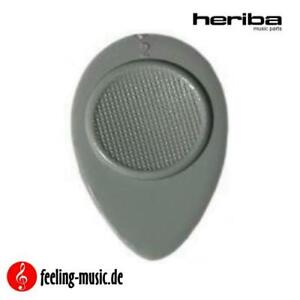 Heriba-Plektren-Modell-230-oval-grau-weich-6-Stueck