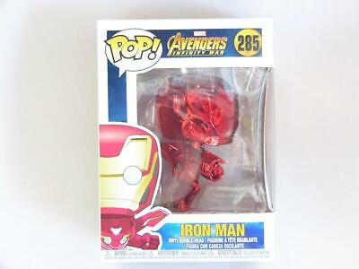 Funko Pop Marvel 285 Avengers Infinity War 34263 Iron Man Red Chrome Special ...
