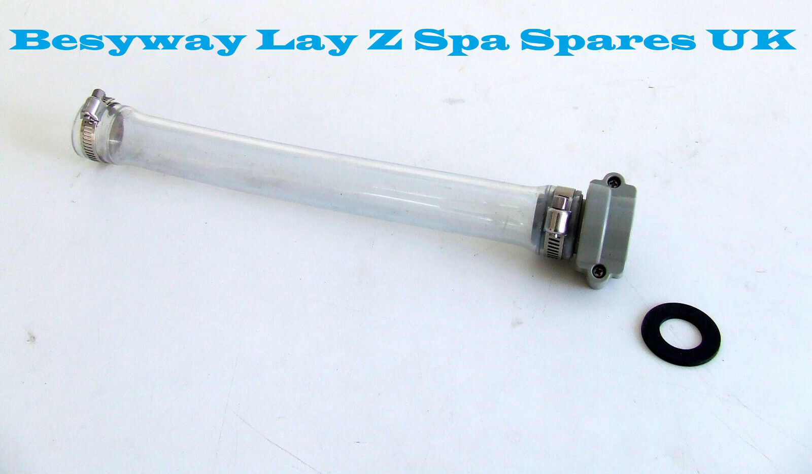 BESTWAY Lay Z Spa B pipework connector from pool to water pump 2x new seals