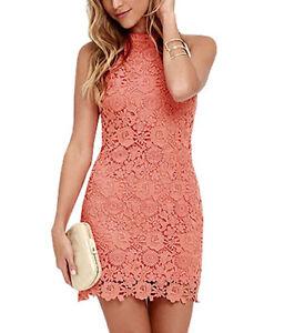 Vestito-Donna-Woman-Dress-Mini-dress-vestitino-Pizzo-Corallo-110013B