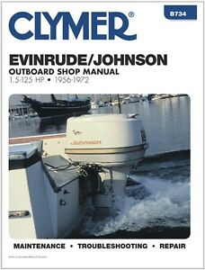 clymer 7 5 hp johnson evinrude outboard motor service shop repair rh ebay co uk Outboard Motor Water Pump Replacement Outboard Motor Flywheel