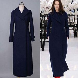 OL-Temperament-Damenmantel-Trenchcoat-Wollmischung-Lang-outwear-Schlank-Jacke