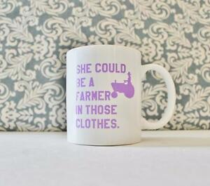 She Could Be A Farmer In Those Clothes Ceramic Coffee Mug Gift Clueless Movie Ebay