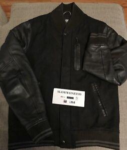 Nike-Sportswear-NSW-Destroyer-Leather-Varsity-Jacket-Black-Medium-M-wool-stadium