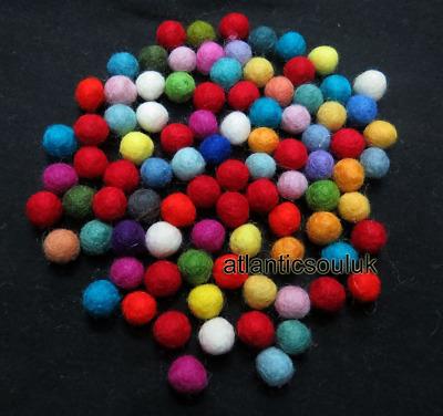 Fb12 Handmade Decorative 2cm//20mm 500pc Natural Color WOOL FELT Ball Kids Craft