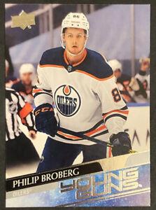 Philip Broberg RC 2020-21 Upper Deck Series 1 Hockey Young Guns Rookie #204 🔥