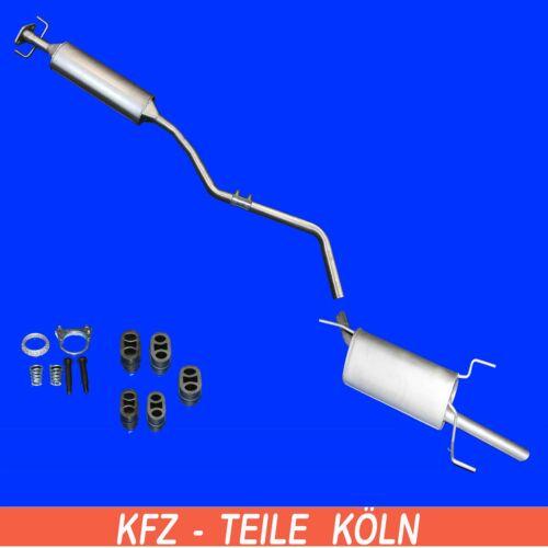 Set Opel Vectra B  1.6i 1.7 TD  MITTEL ENDSCHALLDÄMPFER Auspuffanlage