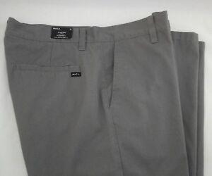 RVCA-Rubble-Chino-Pants-Straight-Smoke-Gray-Cotton-Casual-Men-039-s-sz-33-55-New