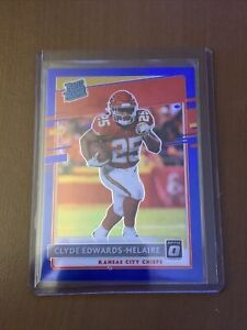 Rare 2020 OPTIC Blue Prizm CLYDE EDWARDS HELAIRE Rated Rookie Card /179 MINT