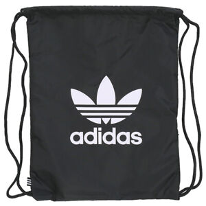 Details about Adidas Originals Trefoil Gymsack bag Sports Training Unisex  Running Black BK6726