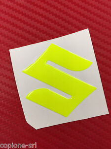 Adesivo Resinato Suzuki 3d Giallo Fluo Yellow 45 Mm