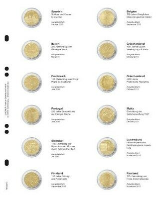 Ernstig Lindner Mu2e10 Multi Collect Illustrated Pages For 2? Commemorative Coins: Spain