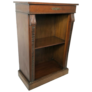 Fine-English-Small-Regency-Style-Dwarf-Mahogany-Open-Bookcase-Display-Cabinet