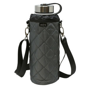 MIRA-Water-Bottle-Carrier-for-40-oz-Wide-Mouth-Insulated-Water-Bottles-Gray