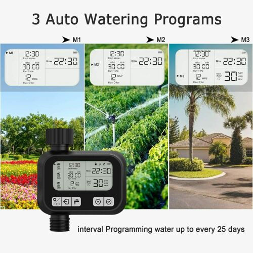 Diivoo Water Timer Outdoor Sprinkler Garden Hose Timer Yard Lawn Irrigation.