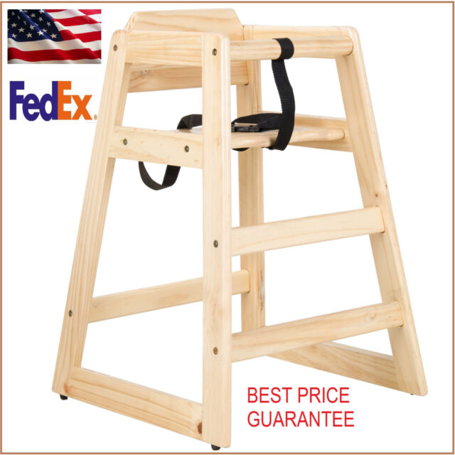 Charmant New Restaurant Style Wooden High Chair With Safety Belt SOLID WOOD $10  Rebate