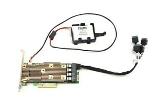 Dell-MegaRAID-SAS-9460-16i-12Gb-s-SATA-SAS-HW-RAID-Controller-Card-Cable-Battery