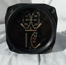 WW 2 USN Grumman F6F Hellcat Fighter  Fuel Gauge Indicator Instrument