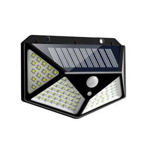 100-LED-Energie-Solaire-Pir-Mouvement-Capteur-Lampe-Murale-Exterieur-Jardin-L