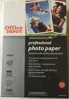 Office Depot Brilliant Gloss Professional Photo Paper 4x6 100 Count Sealed
