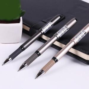 07mm-Gelschreiber-Tintenroller-Kugelschreiber-schwarz-mit-Kappe-Zufaellige-Farbe