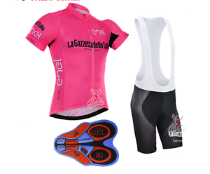 Completo ciclismo set Gazzetta abbigliamento salopette maglietta  Jersey  considerate service