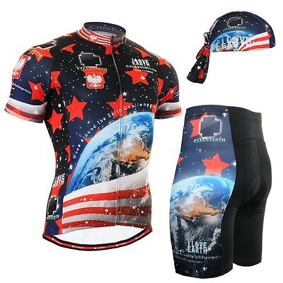 FIXGEAR CS-1002-SET Cycling Jersey & Shorts Padded, Bicycle Wear, MTB Road Bike