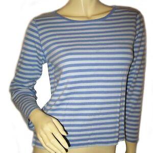 340808996df6b LIZ CLAIBORNE Womens Top Blouse Tee T-Shirt S 3 4 Sleeve Striped ...