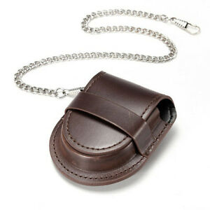 Vintage-PU-Leather-Chain-Pocket-Watch-Holder-Storage-Case-Box-Purse-Pouch-Bag