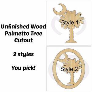 Unfinished Wood Palmetto Tree Door Hanger Laser Cutout