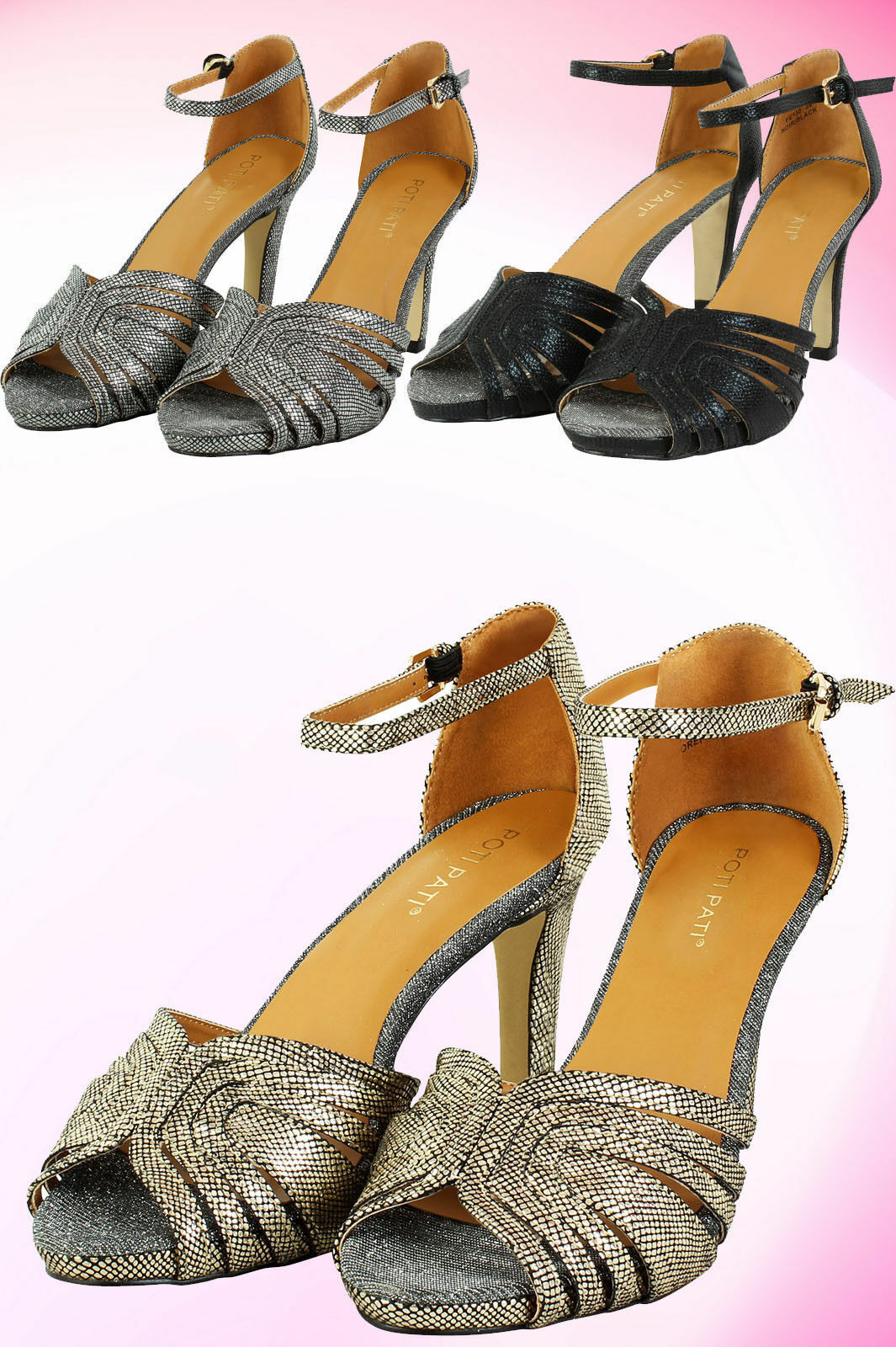 Womens Ladies Stiletto High Heel Peep Toe Ankle Strap Buckle Sandals Girls Shoes
