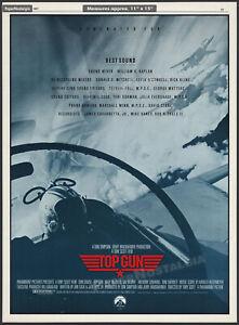 TOP GUN__Original 1987 Trade AD / poster__Oscar AD promo__Best Sound__Tom Cruise