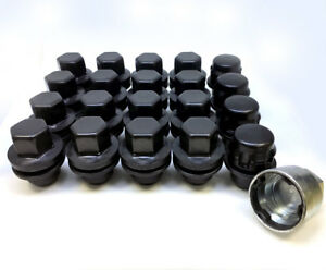 14x1.5 OE Flat Seated Black Range Rover Nuts (16+4)