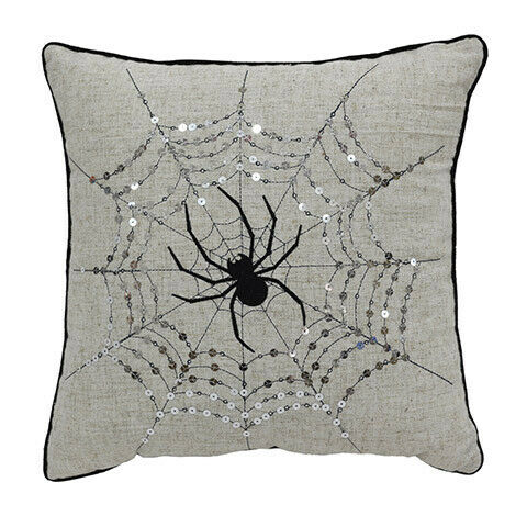 16 x 16 inches w Darice Halloween Spider Web Pillow