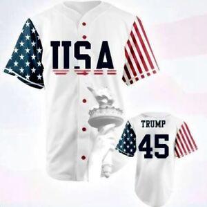 Edition Stitched Sewn Ebay Commemorative Usa White Baseball Jersey 45