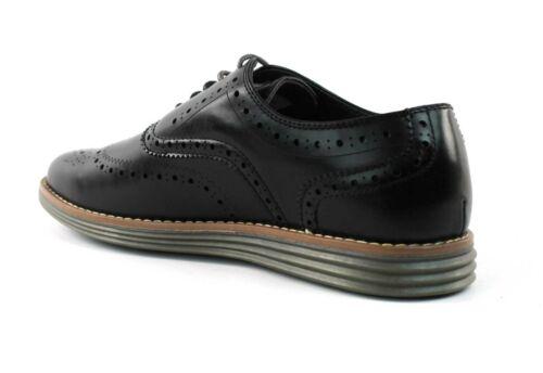 Men/'s Black Wing Tip Dress Casual Shoes Comfort Slip Resistant Jaxson C-1905