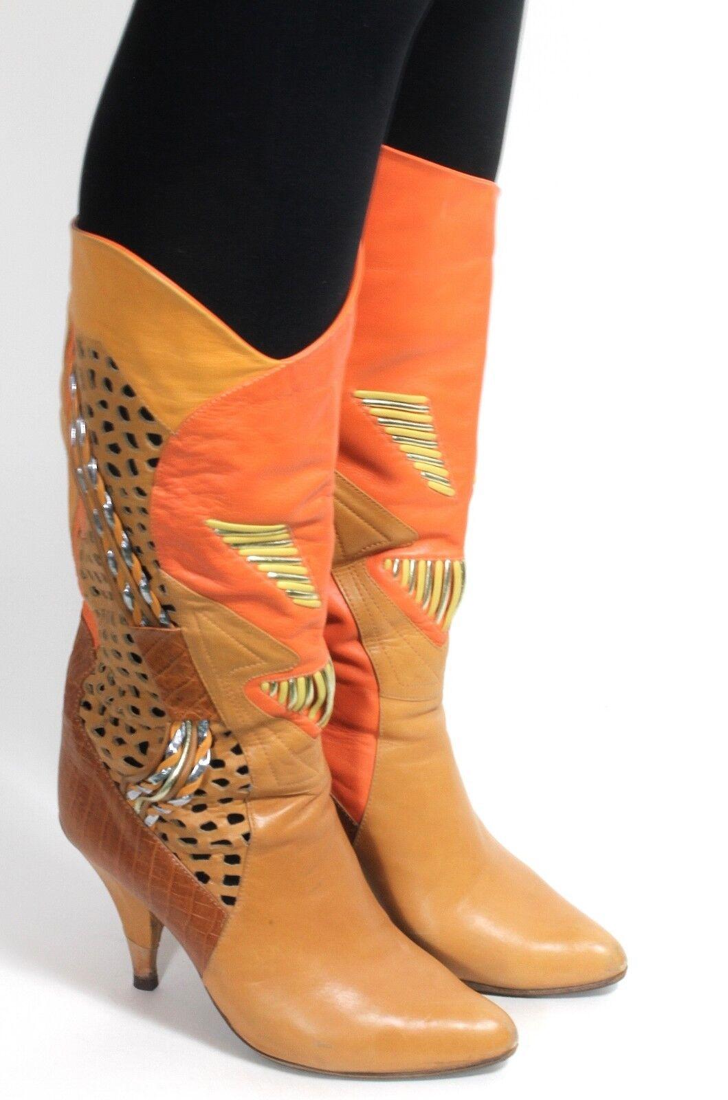 Señora botas vintage botas blogueros hipster ethno tacón alto plata Maury Maury plata 37 33cddb