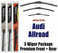 Wiper Blades Trico 3pk Front + Rear fit 2013+ Audi A4 Allroad 19240/200/15i