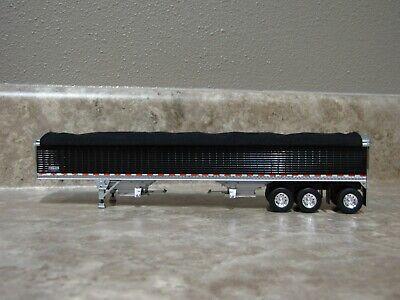 NEW WHITE SPREAD AXLE DCP 1//64 WILSON HOPPER BOTTOM W// BLACK TARP