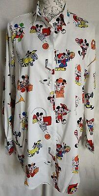 """Da Donna Loose Fit Funky Mickey Mouse Lunga Camicia Blusa nuova dimensione del busto 1 45/"""" 114CM"""