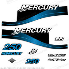 1999-04 Mercury 225HP EFI Yellow Checkered Flag 15pc Repro Decals Outboard 2004