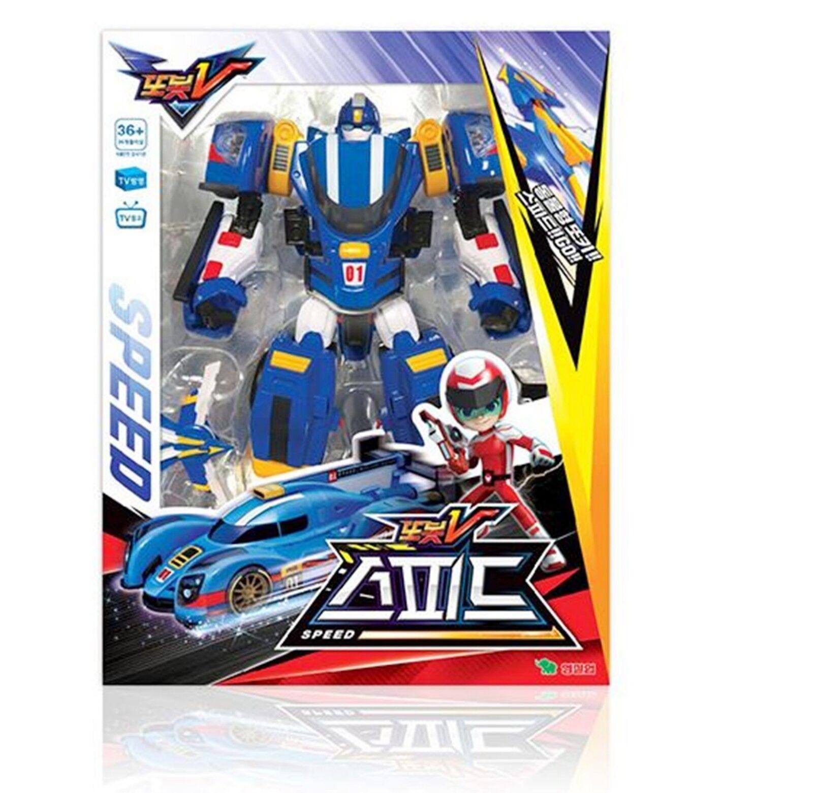 2018 TOBOT V SPEED bluee Transformer Transforming Space Robot Sports Car Toy