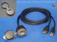 us seller HDMI USB FLUSH MOUNT AV AUX DASH MOUNTING DASHBOARD DOCK INPUT ADAPTER