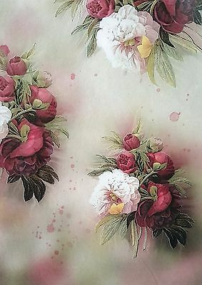 Rice Paper - for Decoupage - sheet - Scrapbooking - A4 - Unique Roses