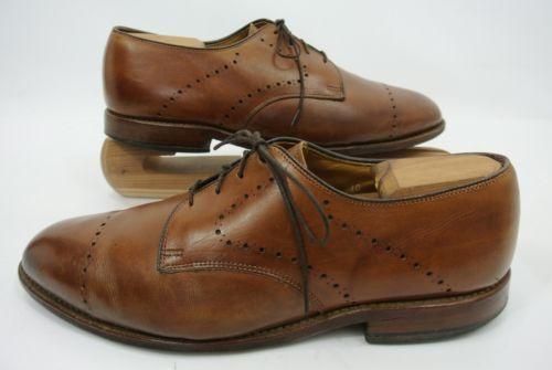 Allen Edmonds Troy Lace-Up Cap Toe Oxford, marrone, Taglia 10.5D, New
